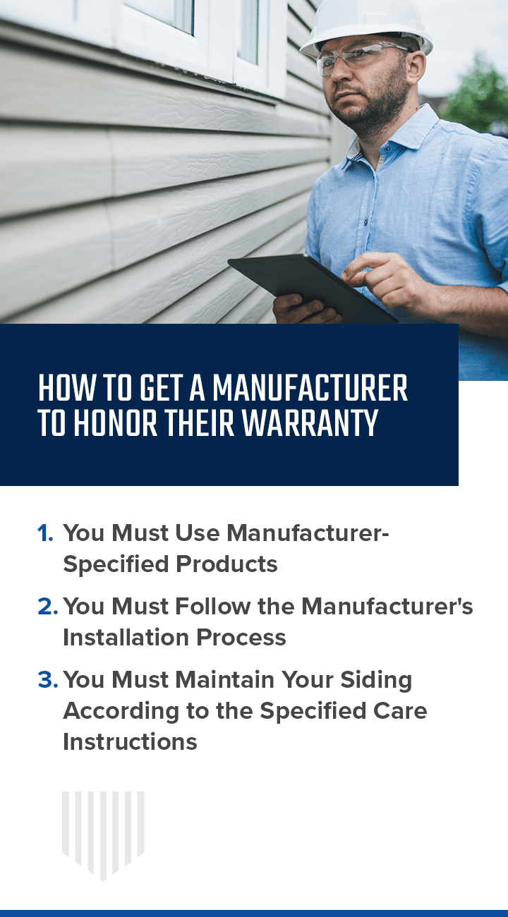 How to get a manufacturer to honor their warranty